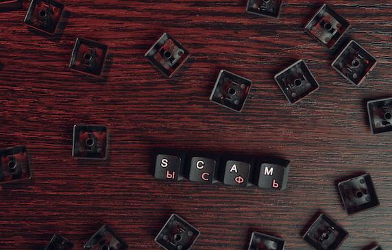 Scam-spelt-in-keyboard-keys