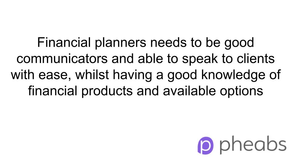 skills for financial planner